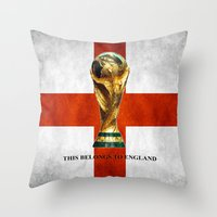 world cup Throw Pillows featuring World Cup by Rothko