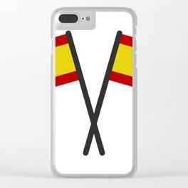 spain flag Clear iPhone Case