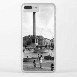 Trafalgar Square, London, England Clear iPhone Case