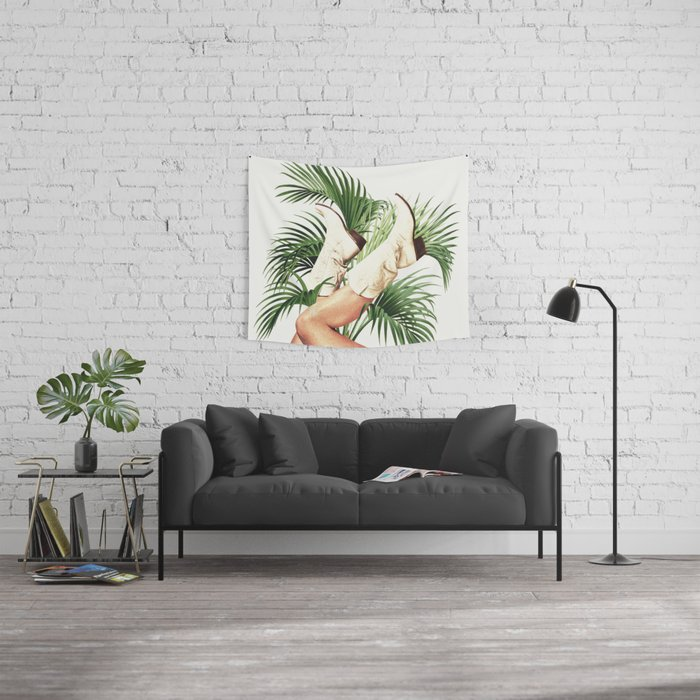 These Boots - Palm Leaves Wall Tapestry