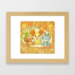 Frenniken Froakie Chespin Framed Art Print