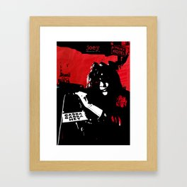 Joey R / Punk Rock Hero Framed Art Print