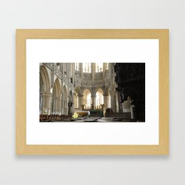 Church in Caen, France Framed Art Print