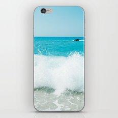 Minimal turquoise ionian wave - Porto Katsiki beach iPhone & iPod Skin