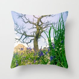 Amongst the Dusty Bluebells Throw Pillow