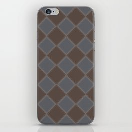 Primitive Tudor Style Diamond Pattern iPhone Skin