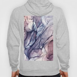 Slate Purple and Sparkle Flowing Abstract Hoody