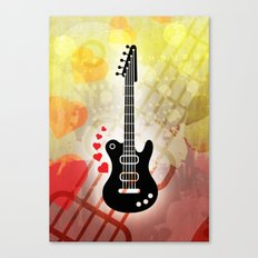 A Guitar for a Love Serenade Canvas Print