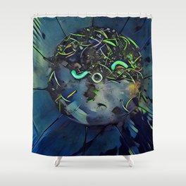 Moon Bug Glow in a Bucket by CheyAnne Sexton Shower Curtain
