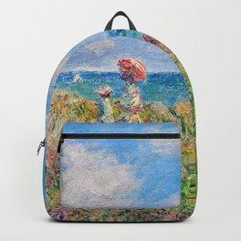 Claude Monet Cliff Walk At Pourville 1882 Backpack