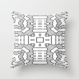 Graphic Cross Roads Throw Pillow