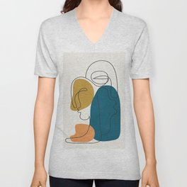 Abstract Faces 26 Unisex V-Neck