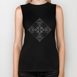 Black sacred geometry design with occult and wicca style Biker Tank