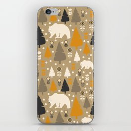 Bears in a winter forest iPhone Skin