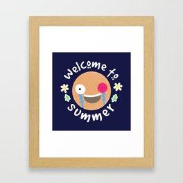 Welcome to summer Framed Art Print
