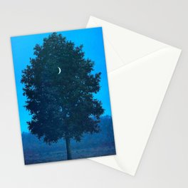 Rene Magritte - Le Seize Septembre - 1956 Moon Through Tree Surrealism Stationery Cards