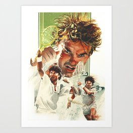 Jimmy Connors Art Print