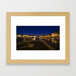 Bristol docks by night  Framed Art Print