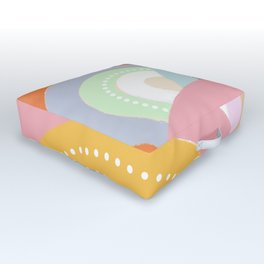 Rainbows and Polka Dots Outdoor Floor Cushion