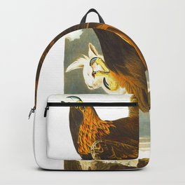 Golden eagle John James Audubon Vintage Scientific Bird Illustration Backpack