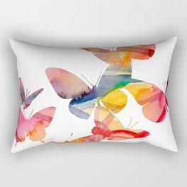 Orange Butterflies Rectangular Pillow