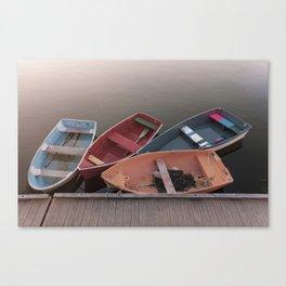 Four Skiffs Canvas Print