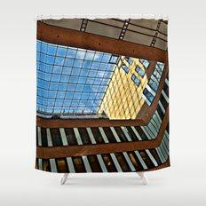 Modern office building in Hamburg Shower Curtain