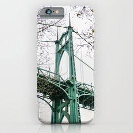 St. Johns Bridge at Cathedral Park Portland iPhone Case
