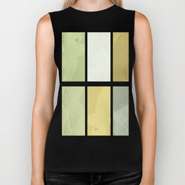Pale Yellow Poinsettia 1 Abstract Rectangles 1 Biker Tank