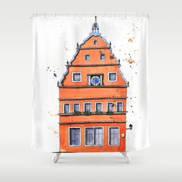 whimsical house in Germany Shower Curtain