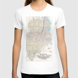 Vintage Map of Jersey City and Hoboken (1886) T-shirt