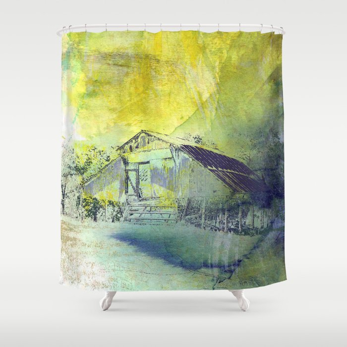 Water Barn Shower Curtain