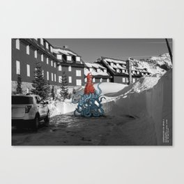 Unseen Monsters of Mount Shasta - Quidi Kallagoo Canvas Print