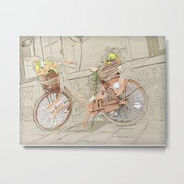 Bicicletta Fiorita Metal Print