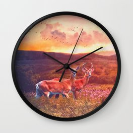 Golden day Wall Clock