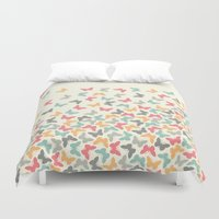 butterflies Duvet Covers featuring Butterflies by Juste Pixx Designs
