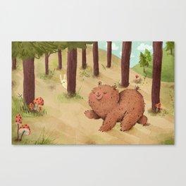 Fat Little Bear Canvas Print