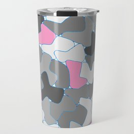Stone Wall Drawing #2 Pink Travel Mug