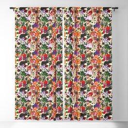 Vintage Butterfly Rabbit Garden Floral Watercolor Blackout Curtain
