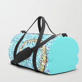 Mediterranean Wave Mosaic Duffle Bag