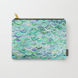 Marble Mosaic in Mint Quartz and Jade Carry-All Pouch