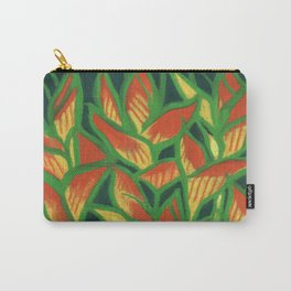 Lobster Claw / Heliconia Rostrata, tropic flowers, green, yellow & orange Carry-All Pouch