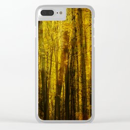 Forest Fuzz Clear iPhone Case