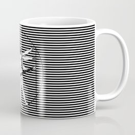 Vitruvian man - Les Paul guitar playing D-Chord (version with strips) Coffee Mug