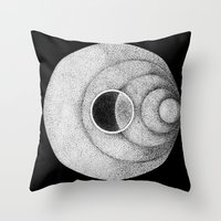 the moon Throw Pillows featuring Moon by Rui Ribeiro