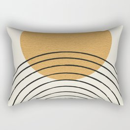 Gold Sun rainbow mid-century full Rectangular Pillow