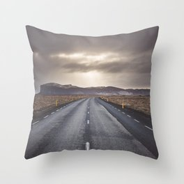 Route 1 - Landscape and Nature Photography Throw Pillow