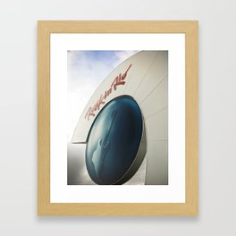 Front entrance of the Rock in Rio Framed Art Print