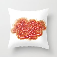 Make Your Own Letters Throw Pillow