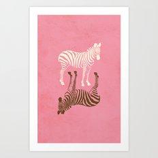 Zebras Pattern Art Print